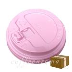 종이컵뚜껑 10,13oz 핑크/개폐형-1박스 1000개