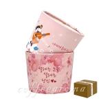 에어홀더 12,16oz/핑크꽃 2종-1박스 500개